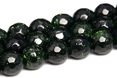 6MM Green Sandstone Grade AAA Micro Faceted Round Gemstone Loose Beads - Sandstone Gemstone