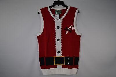Christmas Sweater Vest (Ugly Christmas Sweater, Men's SYP5-6081VAMZ Santa Sweater Vest,)
