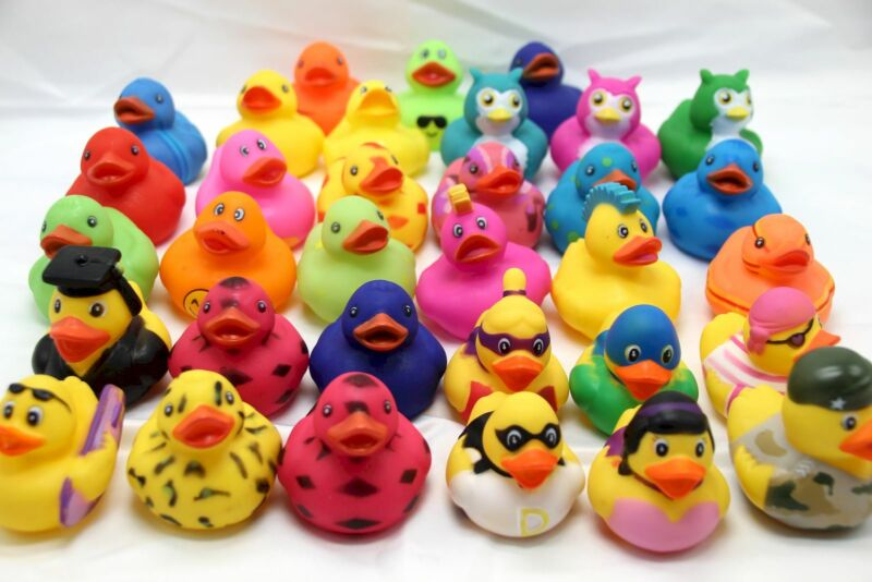 """Rinco 2"""" RUBBER DUCKY Assorted Styles Your Choice"""