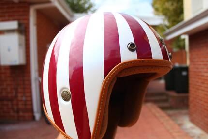 Cafe Racer Helmet / Motorcycle Jet Helmet Size M