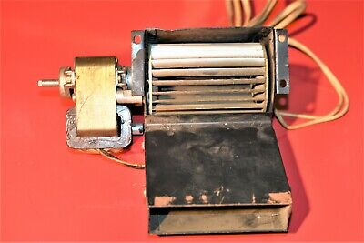Vintage Miniature Squirrel Cage Fan Blower With 120 Volt Motor  553922a  4.3m2