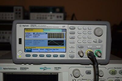Agilent 33522a Dual Channel Arbitrary Function Waveform Generator 30mhz 250mss