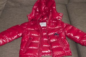 Boys Red Moncler Jacket sz 6Y