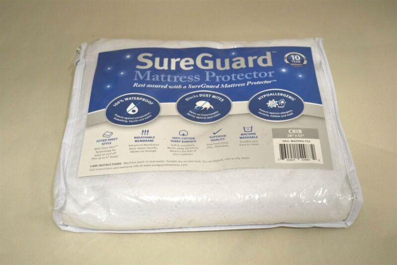 """SureGuard Crib Mattress Protector - 100% Waterproof, Hypoallergenic - 28"""" x 52"""""""