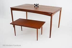 Mid Century Dining Table & Coffee Table Teak Retro Vintage Danish Narre Warren Casey Area Preview