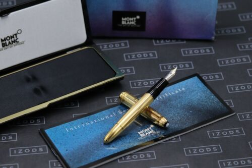 Montblanc Meisterstuck 146 LeGrand Solitaire Vermeil Fountain Pen - UNUSED