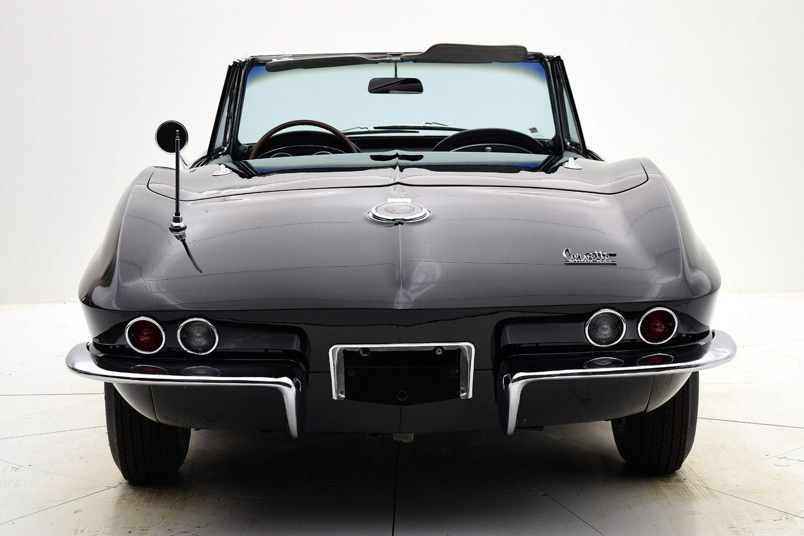 1966 Black Chevrolet Corvette Convertible  | C2 Corvette Photo 5