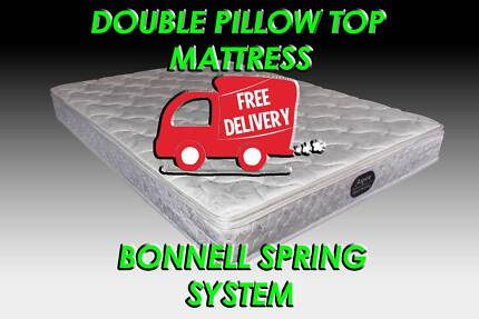 FREE DELIVERY Double Size Budget Friendly Pillow Top Mattress NEW
