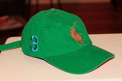 Rare Vintage Ralph LaurenFragrances Polo Horse #3 Strapback Hat Cap Green