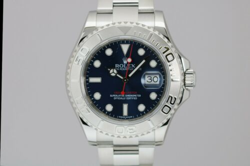 Rolex Yacht-master 116622 Stainless Steel & Platinum 40mm Blue Dial Watch