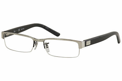 Ray Ban Men's Eyeglasses RB6182 RB/6182 2509 Silver/Black RayBan Optical (Cheap Ray Ban Optical Frames)