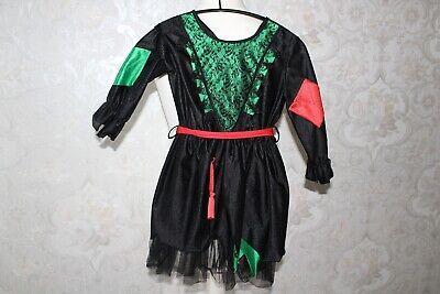 Kleine Hexe Kostüm Mädchen Kleid Gr. 116 Walpurgis Kindergeburtstag - Kleines Mädchen Hexe Kostüm