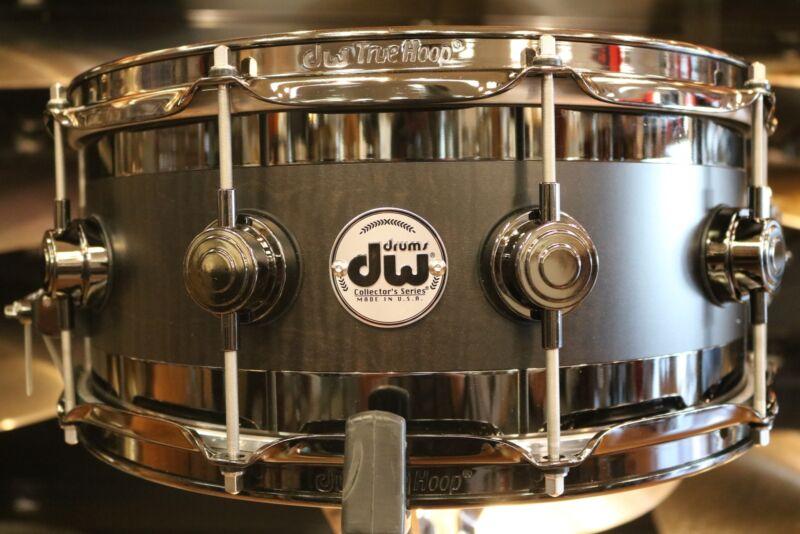 DW Collector's Series B-Stock  6x14 Edge Snare Drum in Ebony Satin Oil w/ Black