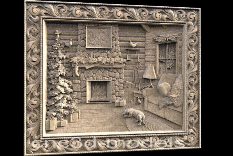 3D STL Models for CNC Router Engraver Carving Artcam Aspire Wood Decor 203