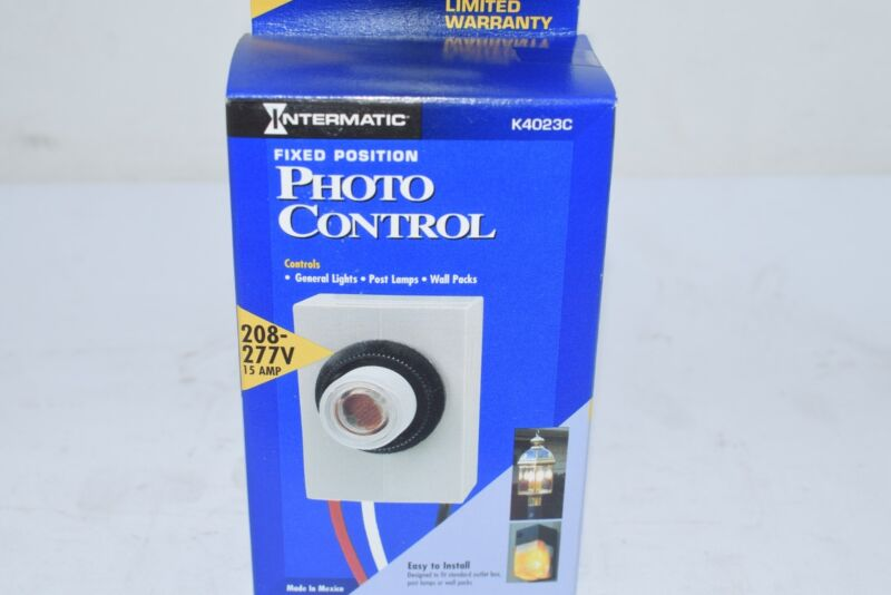 NEW Intermatic K4023C 208-277-Volt Fixed Position Thermal Photocontrol