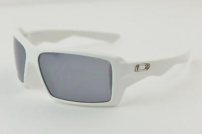 SUPER RARE Oakley EYE PATCH 1.0 White/Black Iridium #12-766 Grab Bag BAMBOO ICON