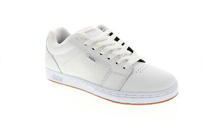 Etnies Barge Xl Mens White Leather Athletic Lace Up Skate Shoes (Lace Skate Shoes)