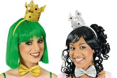 Kostüm Krone und Fliege in silber oder gold Froschkönigin Prinzessin Fasching