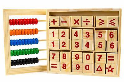 Abaco Juguete De Conteo Educativo Para Bebe Clasico De Madera Contando Números