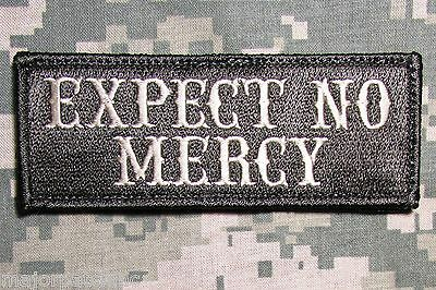 EXPECT NO MERCY USA ARMY BADGE ACU LIGHT  MORALE HOOK PATCH