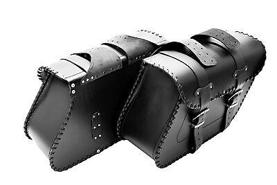 moto cuero trenzado Alforjas bolsas HARLEY DAVIDSON SOFTAIL / plano segunda mano  Embacar hacia Spain