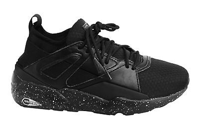 Puma Blaze of Glory Lace Up Black Textile Junior Trainers 363383 01 B36E