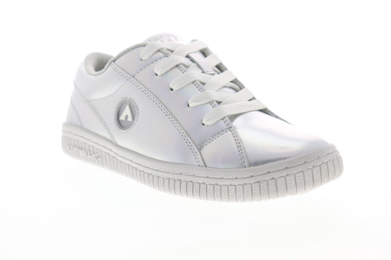 Airwalk Pearl AW19863 Womens Silver Gray Leather Skate Sneakers Shoes 6.5