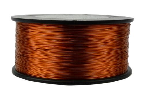 TEMCo 24 AWG Gauge Enameled Copper Magnet Wire 200C 1.5lb 1185ft Coil Winding