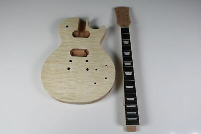 Best quality DIY Unfinished LP Guitar Kit mahogany neck and body
