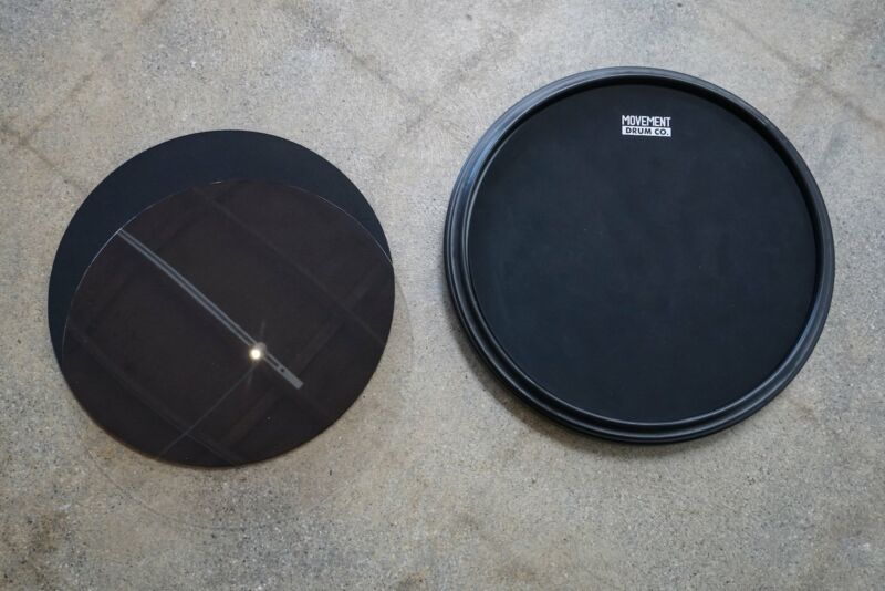 The Double-sided Premium Practice Drum Pad, 4-in-1