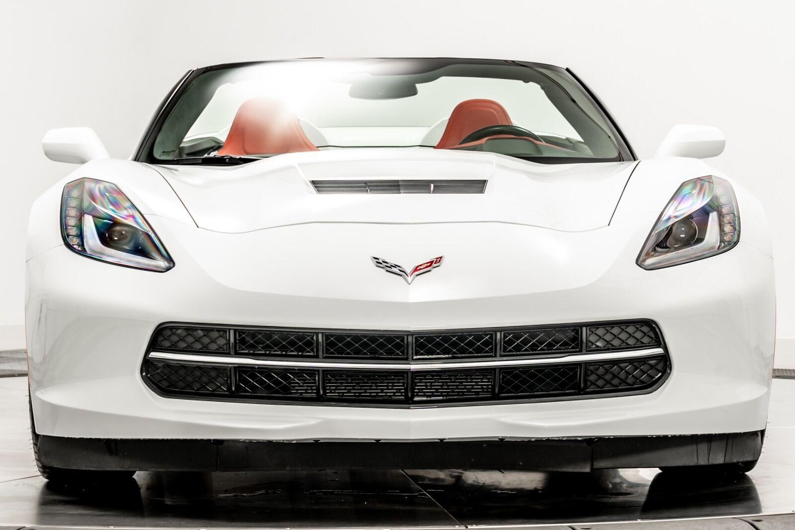 2015 White Chevrolet Corvette Convertible 3LT   C7 Corvette Photo 3