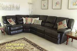 Genuine Leather 5-piece modular corner suite with 2 elec recliner Thornlands Redland Area Preview