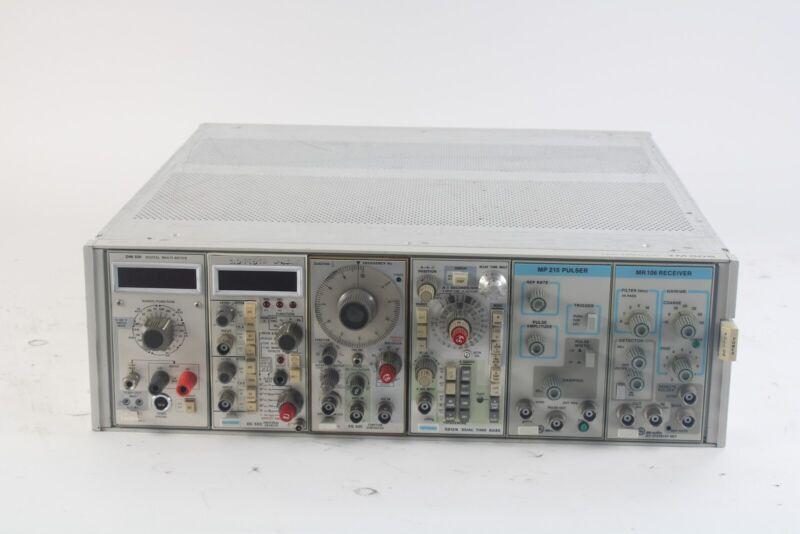 Tektronix TM506 6-Slot Module Mainframe W/ MP 215, MR106, 5B12, DC 503