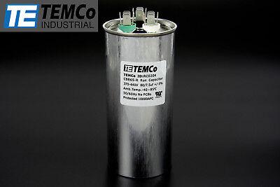 Temco 807.5 Mfd Uf Dual Run Capacitor 370 440 Vac Volts Ac Motor Hvac 807.5