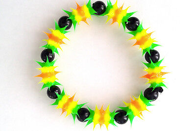 UV GLOW  Silicone Bracelet surfer rave dance hippie Green yellow UV GLO 009 - Glo Bracelets