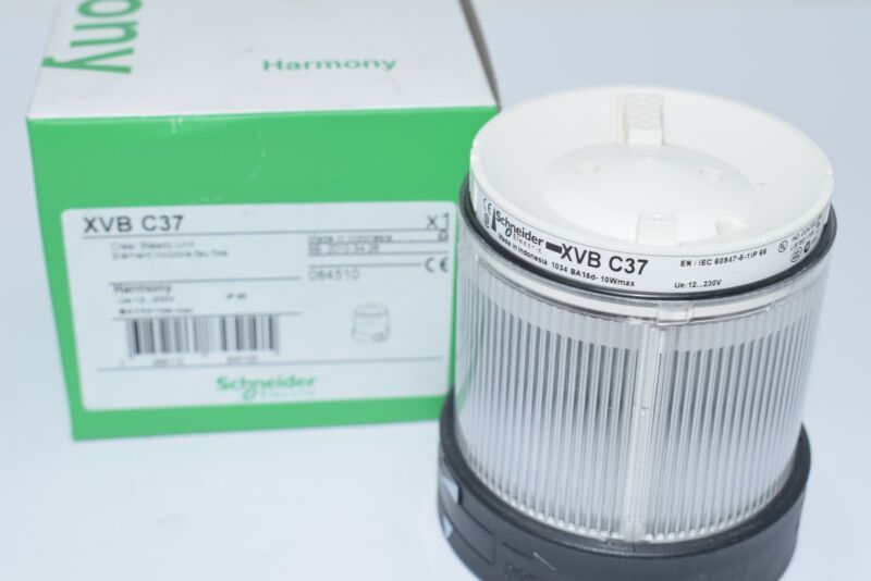 NEW Schneider Electric XVBC37 Visual Warning Device, Module, Steady Lens, Clear,