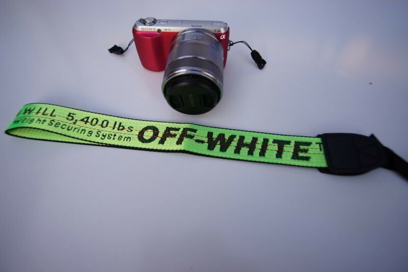 Off white Camera neck strap sony nikon cannon panasonic