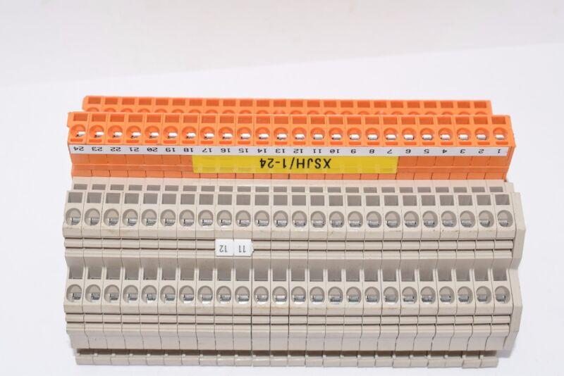 Lot of 24 Weidmuller Terminal End Block Cap ZDKB 2.5/1.5 250V ZDKS