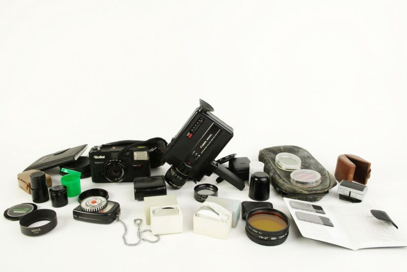 Classic camera goodies. Including cameras, filters etc., Canon, Rollei