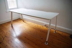 2000x800mm white desktop with 650–750mm adjustable legs Enmore Marrickville Area Preview