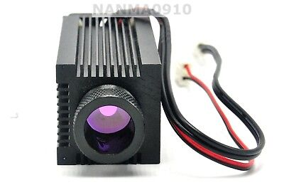 Focusable Ir Laser Diode Housing For C-mount Lasers W Cooling Fan Glass Lens