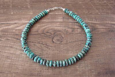 Navajo Hand Strung Turquoise 6mm Rondelle Anklet/Bracelet by D. Jake