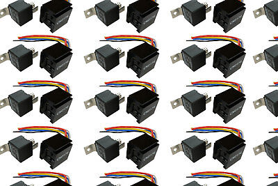 100 Lot Temco 12 V 60/80 Amp Bosch Style S Relay With Har...