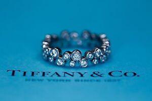 Tiffany Bubbles Platinum Diamond Full Eternity Wedding Band Ring £7k 0.96ct