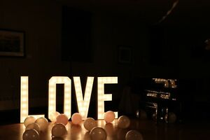 3ft. Gorgeous LOVE Marquee Sign for Rent $250