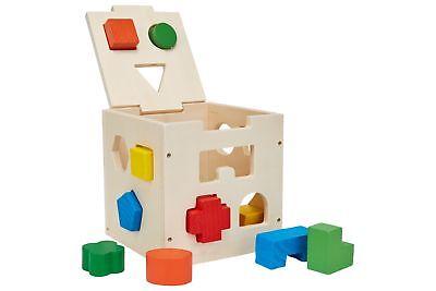 Schramm® Kinder Holz Steck Box Steckbox Sortierbox Steckspiel Puzzle Steckwürfel