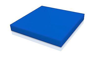 Delrin - Acetal Plastic Sheet 12 X 12 X 12 - Blue Color