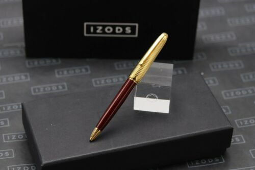 Cartier Louis Cartier Marbled Burgundy and Gold Ballpoint Pen