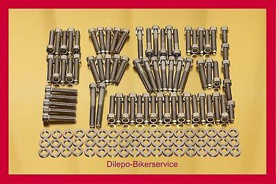 Harley Davidson Night Rod Edelstahl Schraubensatz Motorschrauben-Kit 140 Teile ()