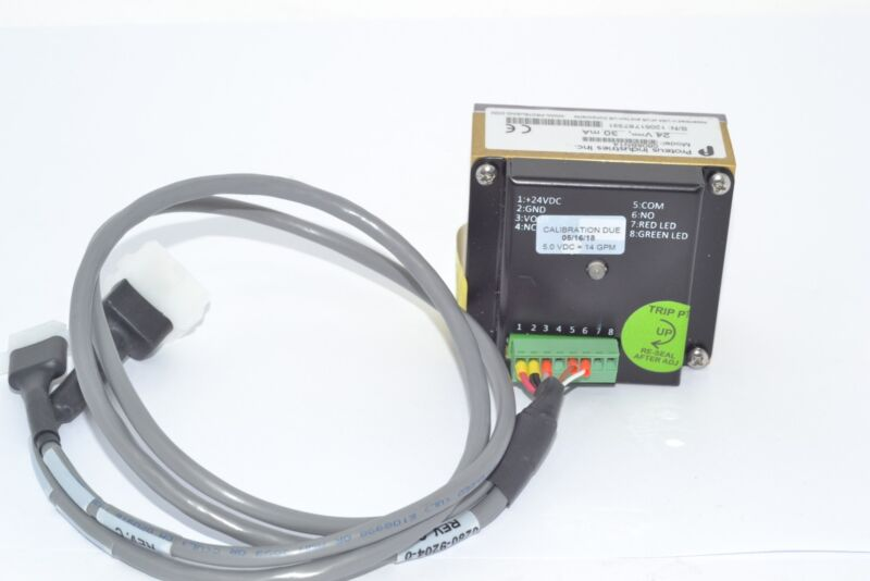 PROTEUS INDUSTRIES 0808BN14 METERING FLOW SWITCH 24VDC 30mA with Cable